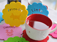 High Quality Felt Coasters Colorful Lovely Shape Novelty Design Perfect Kitchen Decoration Home Furnishings Drink Coasters Cup
