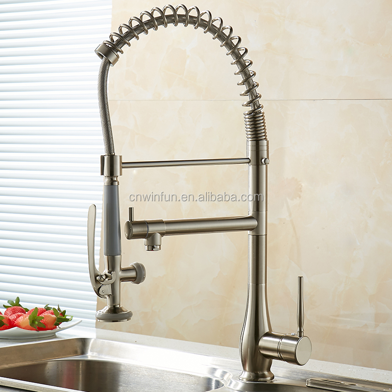 High quality Spring pre rince faucet kitchen in Brushed MH-4828SN
