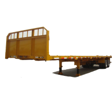 Twin Axle Drop Flat Deck Semi Trailer with tandem Bogie Suspension