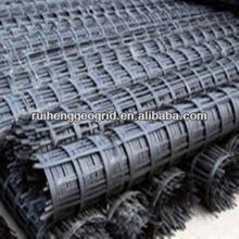 High strength ,low deformation steel plastic complex geogrid for highway ,dams,soft soil foundation reinforcement