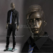 AFELLOW Male Mannequin Display Full Body Realistic Dark Gold Man Mannequin