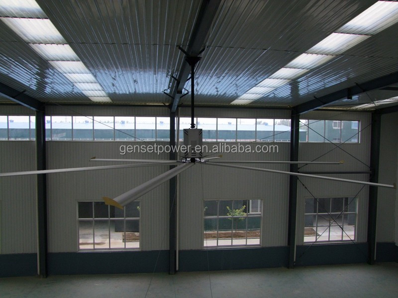 24ft 7.2m Energy Saving livestock farm big ceiling hvls industrial fans