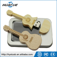 Gadgets hot selling Mini wooden Guitar shap usb disk 2.0/3.0 memory stick wholesale