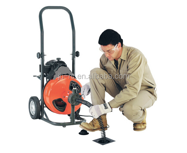 New Heavy Duty Drain Pipe Cleaner Machine with power cable