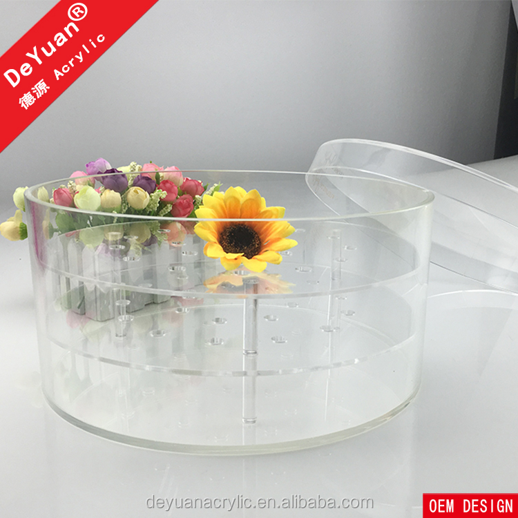 Clear Rose Box Round / Flower Box For Gift