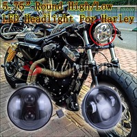 "Motorcycle Electrical System Auto led bulb 5.75"" motorcycle light 12v 24v headlight for Harley"