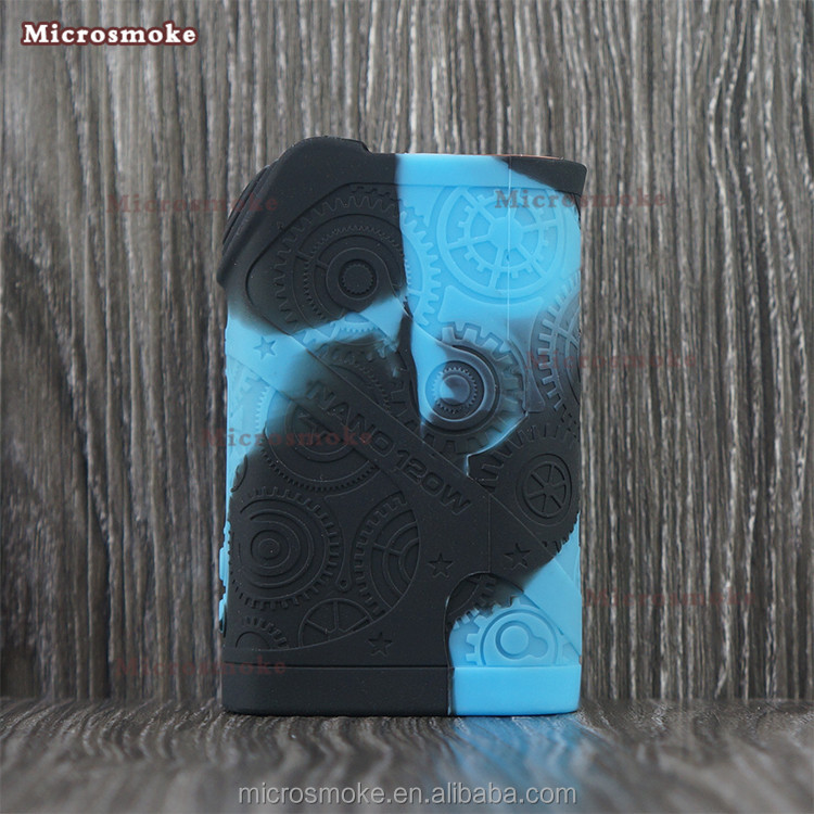 Health e-cigarette mods 2017 Tesla Nano 120W tc e-cigarette box mod 120W ecigarette mod Silicone Case Cover Skin 13 Colors