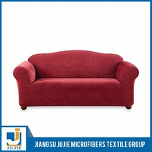 Flexible Washable suede stretch sofa cover, customed plain sofa cover design