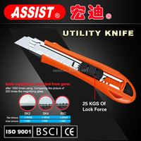 Assist 3 blades plastic utility knife Assist hot sale nice newest economic pocket knife cutter knife