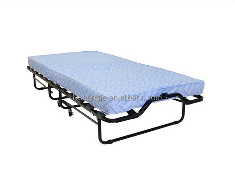 Japanese iron steel pipe folding bed for hotels