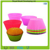 2015 Coloful round shape silicone cup cake mold silicone cake mould