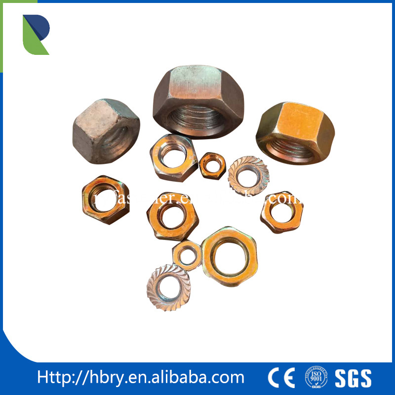 Manufacturing factory DIN933 DIN931 steel hex bolt and nut