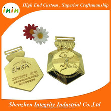 new arrive school badminton game engraved logo gold medal