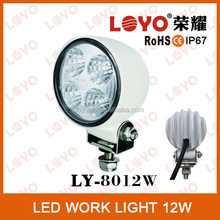 12w round led working light white offroad led light car led work light for all cars