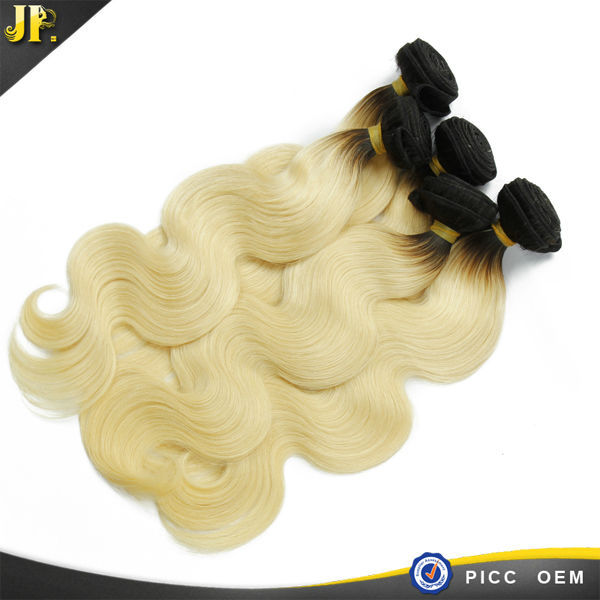 JP Virgin Hair Cheap Price No Shed Unprocessed Indian Blonde Russian Hair