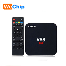 High functions low price google play download V88 Rockchip 3229 1g 8g kodi and ip tv box 4k Media player