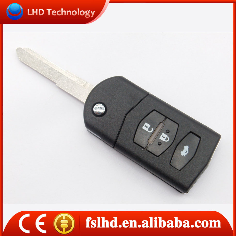 Hot Sale Mazda 6 remote key control card 433mhz for auto mazda key 3 button