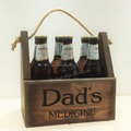Rustic wooden Christmas Gift Six Pack Bottle Caddie