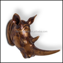 America Resin Rhinoceros Wall decoration With Bronze Silver Color christmas ornament wall hanging craft for kids