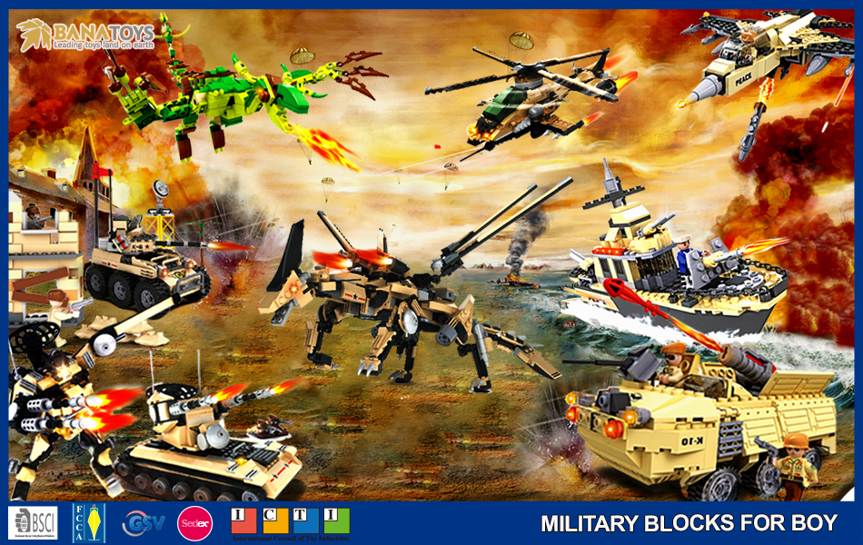 Newest army mini plastic building blocks toys