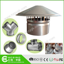 Waterproof Vent Pipe Cap / Galvanized Steel Cowl Vents / Roof Cowl Mushroom Air Vent