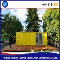 2016 china pop hot sale 20t shipping container glass house/ prefab modern modular export tiny prefabricated houses