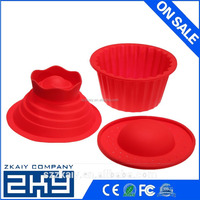 3pcs Silicone Giant Big Top Birthday Cupcake Cup Cake Mould Bake Baking Maker