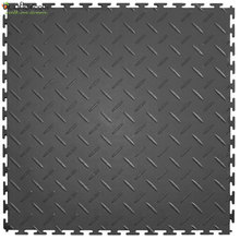 Metallic look durable interlocking pvc garage floor tiles