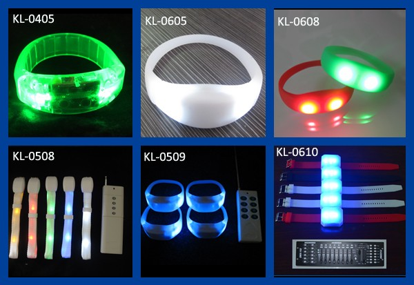 Customized Logo Sound Activated LED Glow Wristband Lighting LED Silicone Bracelet