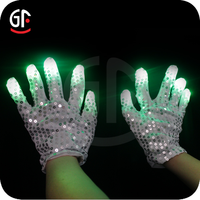 Party Items From China Super Bright Black Glowing Finger Gloves