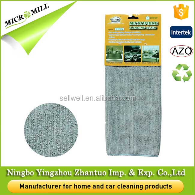 Terry microfiber cleaning cloth in roll, microfibre cleaning cloth for kitchen