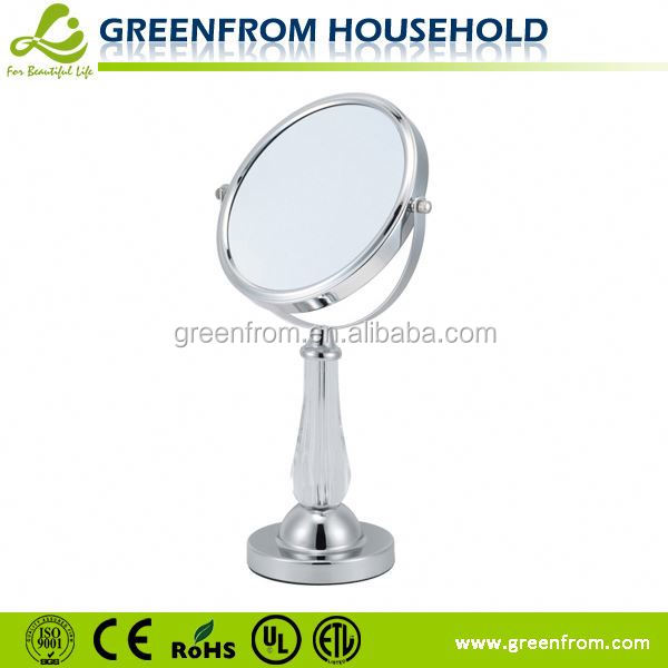 7 inch double side desktop magnifying plastic mirror ball