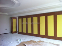 Wooden Prefabricated Interior Soundproof Folding Partition For Hotel