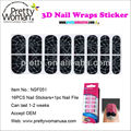 2014 New Non-toxic Bling 3D Ble Nail Sticker Professional Manicure in 5 Minutes Easy To Use Nail Wraps