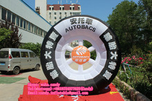 2016 Customized advertising inflatable tire/inflatable tire model for saleC-173