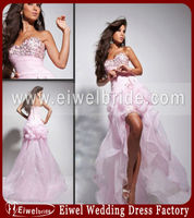 113549 Pink Custom Made Short Front Long Back Prom Dresses 2013