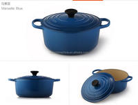 hot sale in USA cast iron two tone color enamel cookware