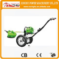 43cc wheel brush cutter hand push grass cutter/hand push brush cutter 2 stroke/4stroke hand push brush cutter