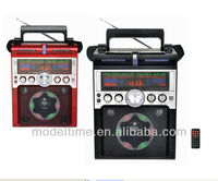 Portable AM/FM/SW1-2 Radio with RC and USB Recorder and SD Card mp3 player