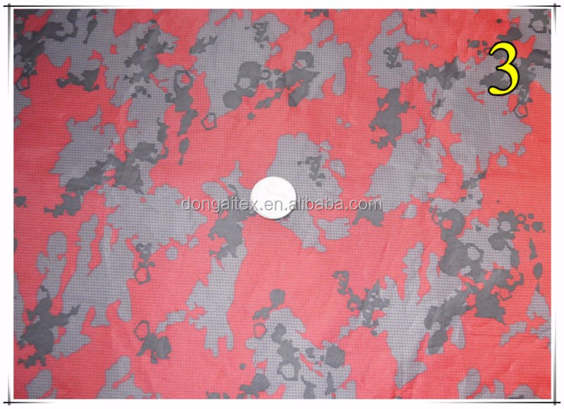 190T printed Taffeta pvc waterproof fabric Raincoat fabric