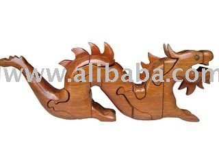 3d wooden puzzle_Dragon