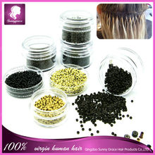 wholesale price micro bead hair extensions micro ring high quality and wholesale price different size silicone micro ring