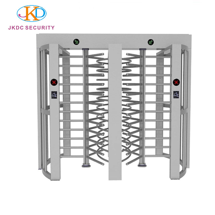 Rainproof Speed Electronic Security Revolving Full Height Turnstile Gate With 304 Stainless Steel