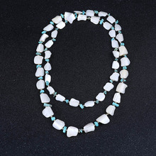 Natural Semi-precious Stone Turquoise Sea Shell Necklace