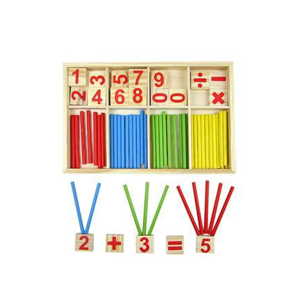 Baby Toys Counting Sticks Education Wooden Toys Math Wooden wood gift kid toy
