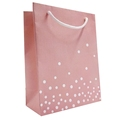 New Products Custom Printing Elegant Paper Polka Dot Gift Bags With Handles