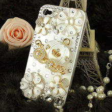 HOT!!!Very Cute 3d Bling Crystal Cinderella's pumpkin cart stone case for iphone 4/4s best gift for girl