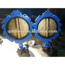 China Manufacture Rubber Seal Gear Operated Butterfly Valves DN200