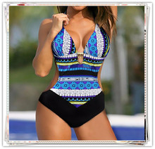 New modern ladies high cut swimwear printed one piece women swimwear bikini no minimum