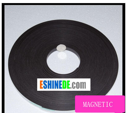 Self Adhesive Flexible Soft Rubber Magnetic Tape Magnet DIY Craft Strip 12.7x1.5mm